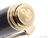 Pelikan Souveran M400 Fountain Pen - Black-Red with Gold Trim - Jewel
