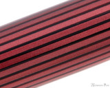 Pelikan Souveran M400 Fountain Pen - Black-Red with Gold Trim - Pattern