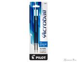 Pilot Acroball Ballpoint Refill - Blue, Medium (2 Pack) - Box