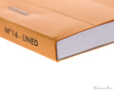 Rhodia No. 16 Staplebound Notepad - A5, Lined - Orange binding closeup
