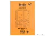 Rhodia No. 16 Staplebound Notepad - A5, Lined - Orange back cover