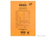 Rhodia No. 16 Staplebound Notepad - A5, Lined - Orange back cover