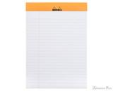 Rhodia No. 16 Staplebound Notepad - A5, Lined - Orange open