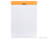 Rhodia No. 16 Staplebound Notepad - A5, Lined - Orange open