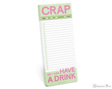 Knock Knock Make-a-List Pad - Crap So I Can Have a Drink