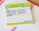 Knock Knock Sticky Notes - Hand-Lettered Thank You - Beauty