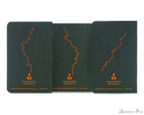 Field Notes Notebooks - Limited Edition Trailhead (3 Pack) - Back Art