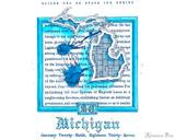 Sailor US 50 State Ink Series - Michigan (20ml Bottle) - Swab