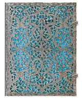Paperblanks Ultra Journal - Silver Filigree Maya Blue, Lined