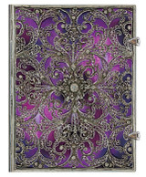 Paperblanks Ultra Journal - Silver Filigree Aubergine, Lined