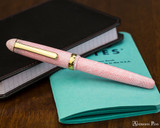 Platinum 3776 Celluloid Fountain Pen - Cherry Blossom - Closed on Notebook