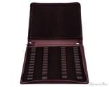 Girologio 48 Pen Case - Brown Leather - Open