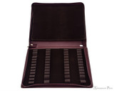 Girologio 48 Pen Case - Brown Leather - Open