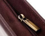 Girologio 48 Pen Case - Brown Leather - Zipper Pull