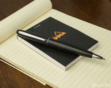 Pilot Metropolitan Ballpoint - Black Plain - On Notepad