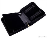 Girologio 12 Pen Case - Black Leather - Open