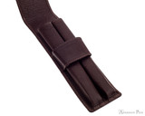 Girologio 2 Pen Case - Brown Leather - Open