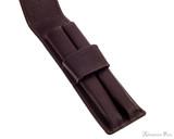 Girologio 2 Pen Case - Brown Leather - Open
