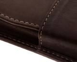 Girologio 2 Pen Case - Brown Leather - Stitching