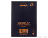 Rhodia No. 13 Staplebound Notepad - A6, Lined - Black back cover