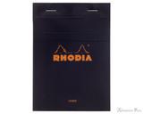 Rhodia No. 13 Staplebound Notepad - A6, Lined - Black