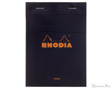 Rhodia No. 13 Staplebound Notepad - A6, Lined - Black