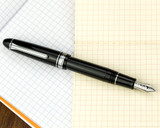 Sailor 1911 Large Fountain Pen - Black with Rhodium Trim - Posted on Notebook