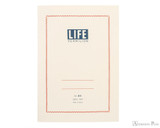 Life Vermilion Notebook - A5, Lined - Ivory