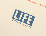 Life Vermilion Notebook - A5, Lined - Ivory - Imprint