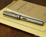 Lamy LX Fountain Pen - Ruthenium - On Notebook