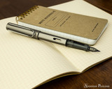 Lamy LX Fountain Pen - Ruthenium - On Notebook Posted
