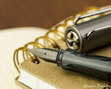 Lamy LX Fountain Pen - Ruthenium - On Notebook Nib