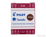 Pilot Namiki Sepia Ink Cartridges (6 Pack)