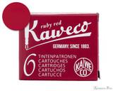 Kaweco Ruby Red Ink Cartridges (6 Pack)