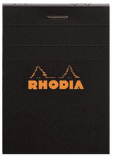Rhodia No. 12 Staplebound Notepad - 3.375 x 4.75, Graph - Black