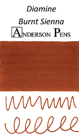 Diamine Burnt Sienna Ink Color Swab