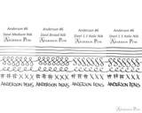 Anderson Pens #6 Steel Nib - Two-Tone, 1.5mm Stub - Nib Card 2
