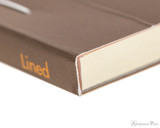 Rhodia No. 16 Premium Notepad - A5, Lined - Taupe, Lined binding detail
