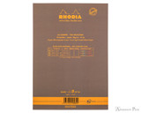 Rhodia No. 16 Premium Notepad - A5, Lined - Taupe, Lined back cover