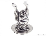 Jac Zagoory Mini Happy Buddha Pewter Pen Holder