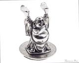 Jac Zagoory Mini Happy Buddha Pewter Pen Holder