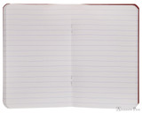 Clairefontaine Basic Staplebound Duo - 3.5 x 5.5, Lined Paper - Red and Green Open
