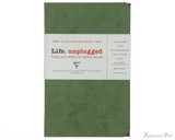 Clairefontaine Basic Staplebound Duo - 3.5 x 5.5, Lined Paper - Green