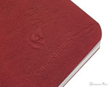 Clairefontaine Basic Staplebound Duo - 3.5 x 5.5, Lined Paper - Red and Green - Logo