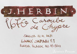 J. Herbin 1670 Anniversary Caroube de Chypre Ink Sample ThINK Thursday additional closeup