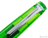 Sailor Professional Gear Slim Fountain Pen - Transparent Green with Rhodium Trim - Clip