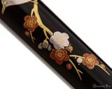 Platinum Classic Maki-e Fountain Pen - Bush Warbler - Closeup 2