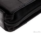 Girologio 24 Pen Case - Black Leather - Zipper