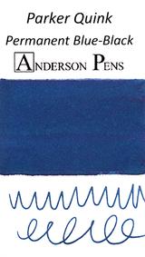 Parker Quink Permanent Blue-Black Ink Color Swab