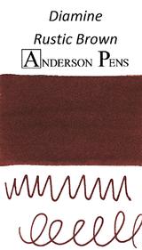 Diamine Rustic Brown Ink Color Swab